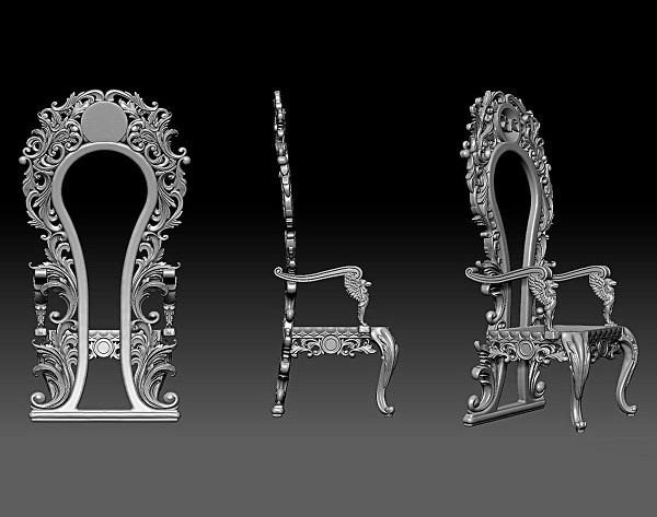 Фото 3D моделирования стульев