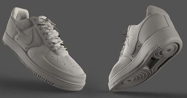 Фото 3D моделирования кроссовка