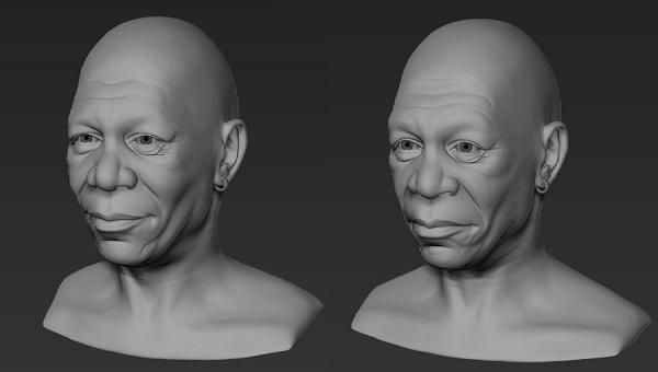 Фото 3D моделирования лица