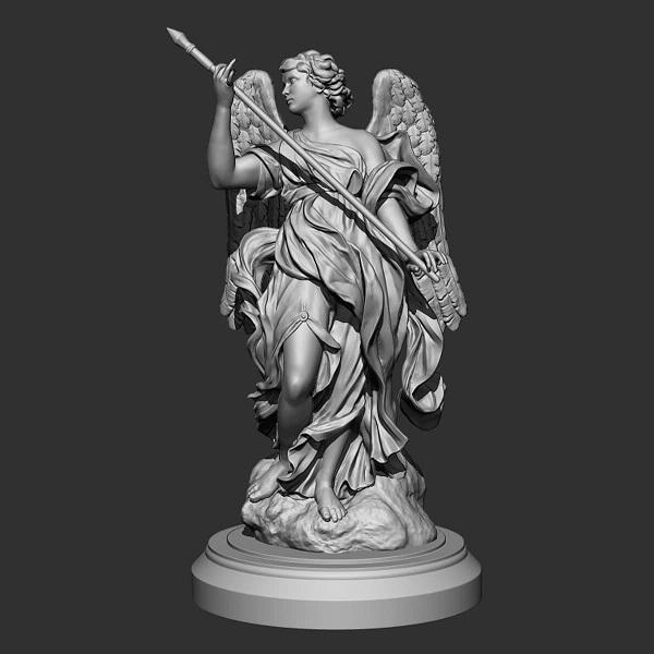 Фото 3D моделирования статуэтки