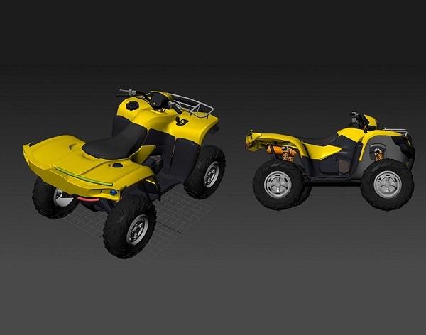 Фото 3D моделирования квадроцикла
