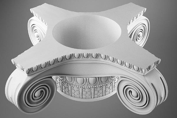 Фото 3D моделирования колонны