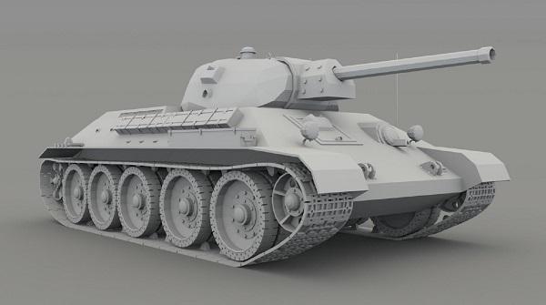 Фото 3D моделирования танка