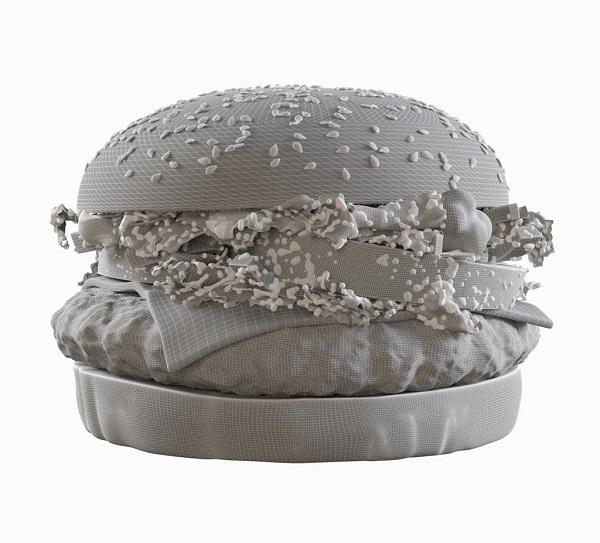 Фото 3D моделирования гамбургера