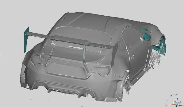 Фото 3D сканирования корпуса автомобиля