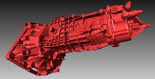 Фото 3D сканирования коробки передач