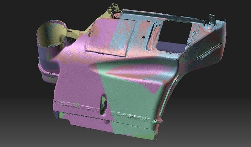 Фото 3D сканирования модели корпуса