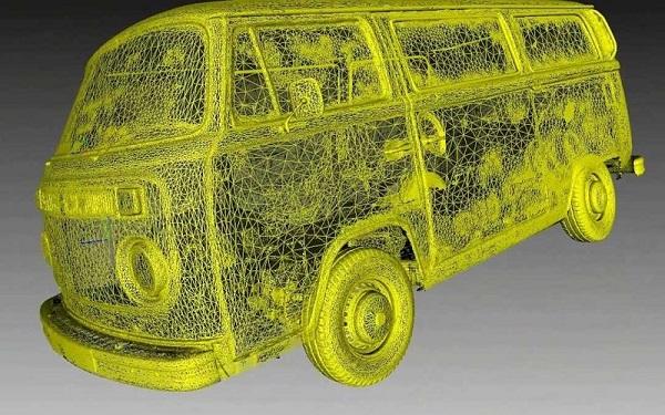 Фото 3D сканирования автобуса 2