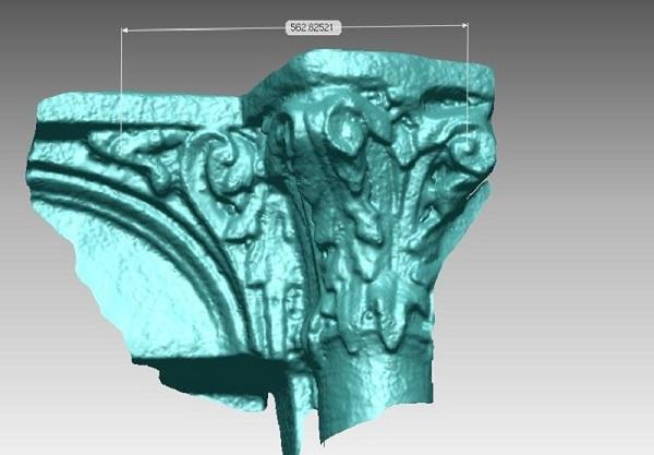 Фото 3D сканирование колонны 2