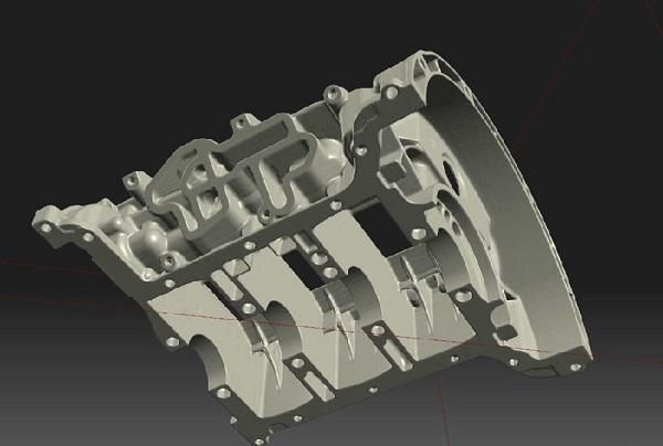 Фото 3D сканирования двигателя 2