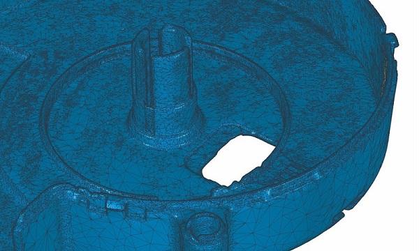 Фото 3D сканирования детали вентиляции
