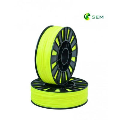 Фото ABS пластика SEM 1,75 мм флуоресцентный лимонный