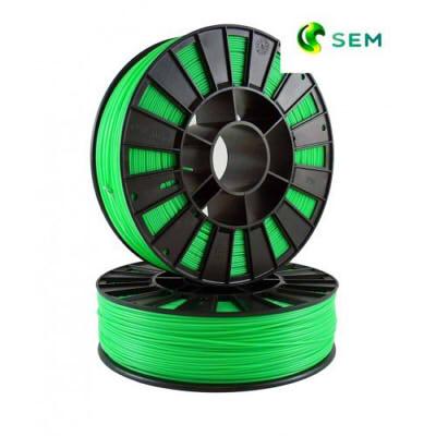 Фото ABS пластика SEM 1,75 мм флуоресцентный зелёный