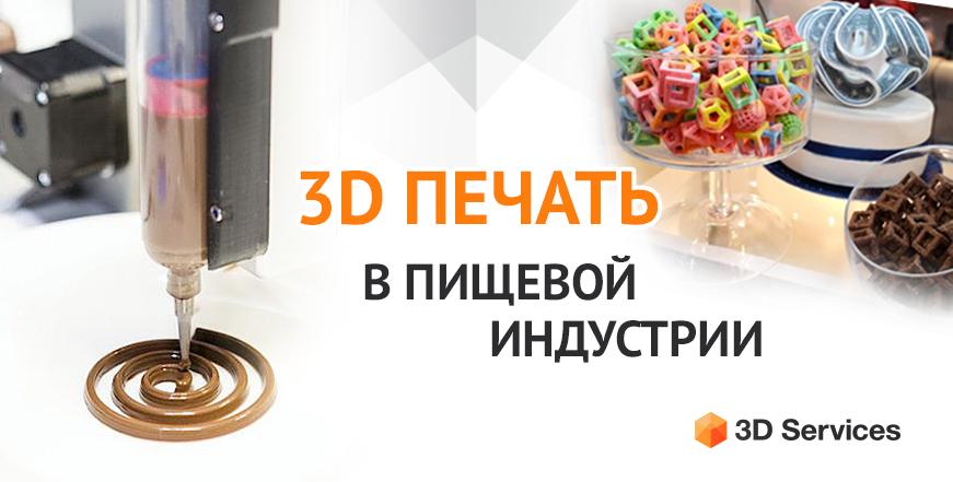 Баннер 3D печать Пищевая индустрия