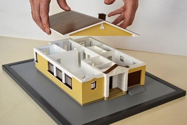 Фото 3D печати макета дома