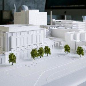 Баннер 3D печать бизнес-центра