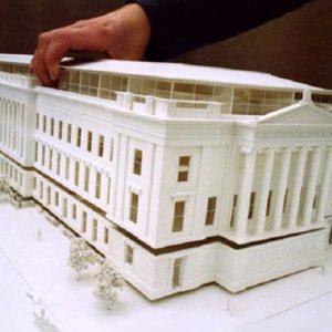 Баннер 3D печать здания
