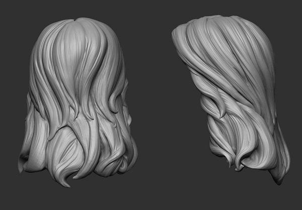 Фото 3D моделирования волос