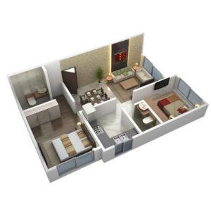 Фото 3D моделирования квартиры