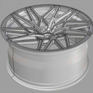 Фото 3D моделирования колесного диска