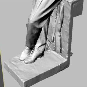 Фото 3D моделирования статуи