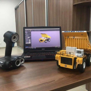 Фото 3D сканирования модели самосвала