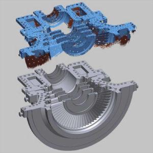 Фото 3D сканирования детали машины
