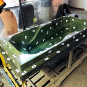 Фото 3D сканирования ванны