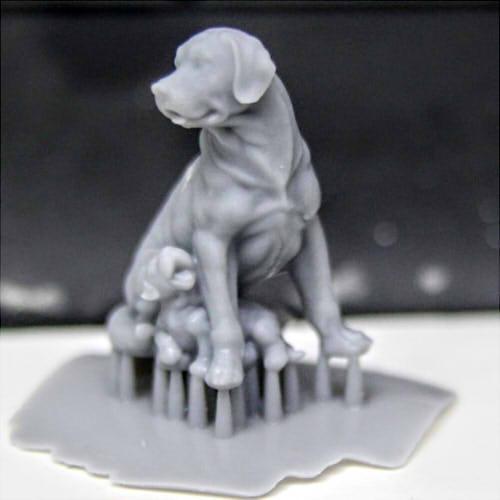 Фото 3д печати фигурки собаки