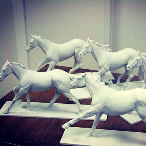 Фото 3д печати статуэток лошадей