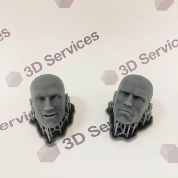 Фото 3D печати кукольных голов