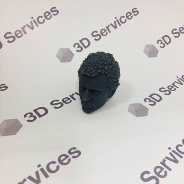 Фото 3D печати кукольной головы