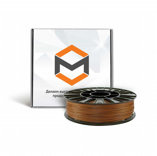 Фото PLA пластика 3DMall 1,75 мм металлик бронзовый