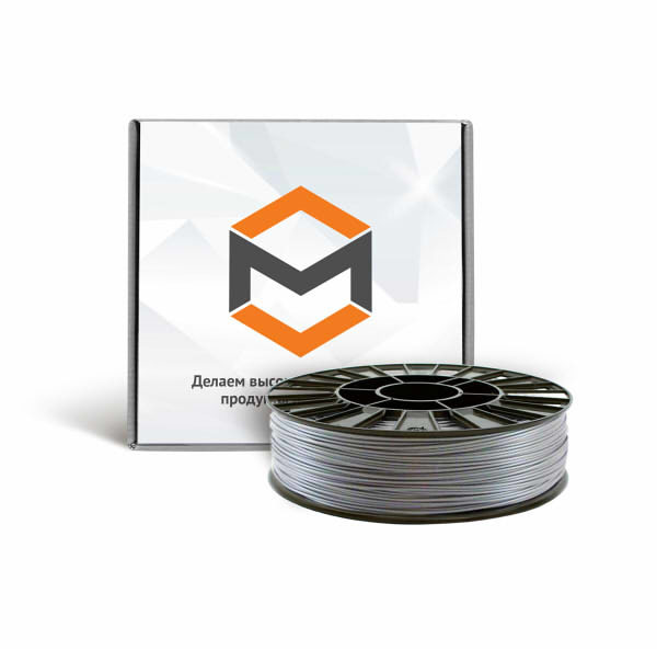 Фото PLA пластика 3DMall 1,75 мм металлик серый
