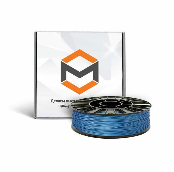 Фото PLA пластика 3DMall 1,75 мм металлик синий