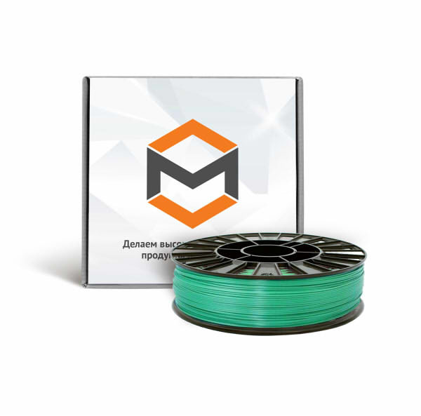 Фото PLA пластика 3DMall 1,75 мм металлик зеленый