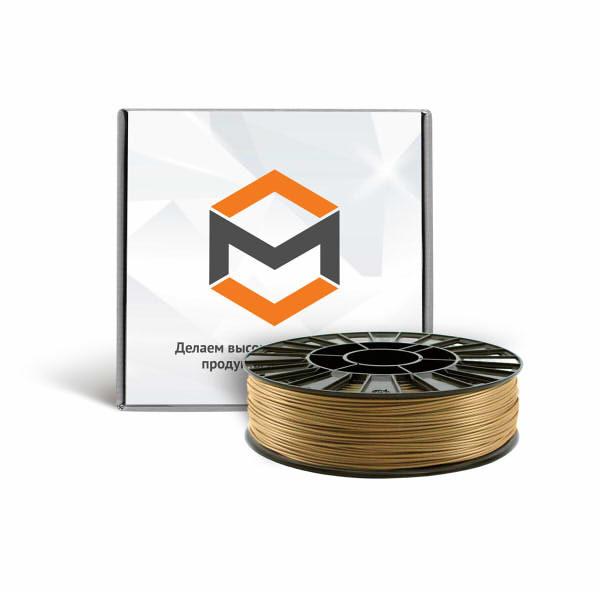 Фото PLA пластика 3DMall 1,75 мм металлик золотой