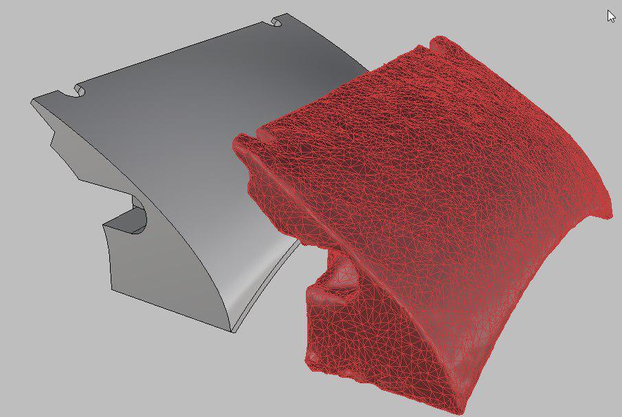 Фото 3D моделирования части ремешка для часов