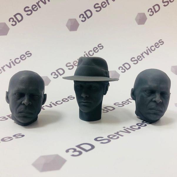 Фото 3D печати голов кукол