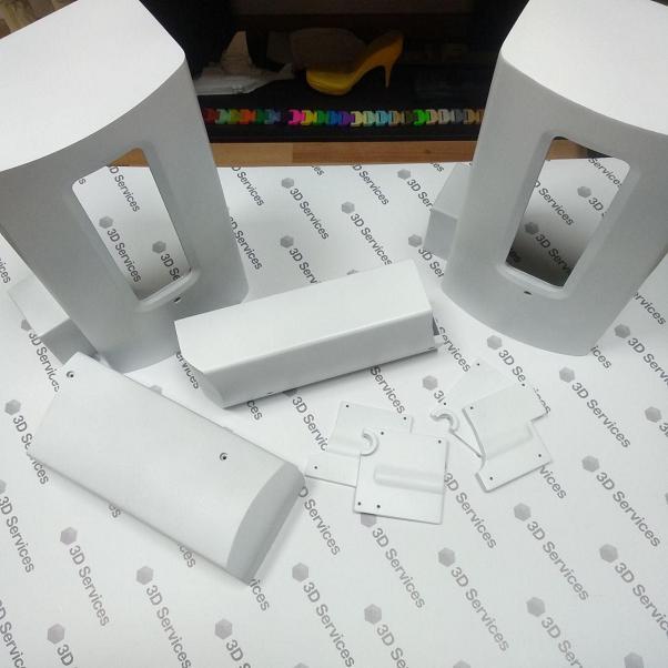 Фото 3D печати белого корпуса