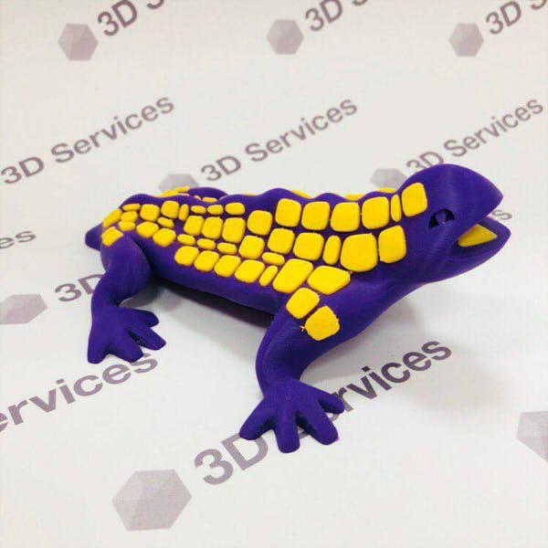 Фото 3D печати ящерицы