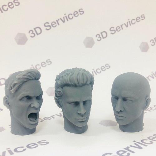 Фото 3D печать макетов голов