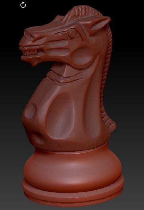 Фото 3D сканирование фигуры для шахмат 2