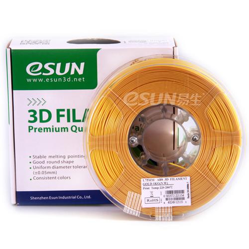 Фото нити для 3D принтера eSUN 3D FILAMENT ABS GOLD 1.75 мм