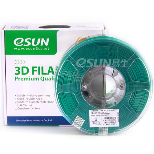 Фото нити для 3D принтера eSUN 3D FILAMENT ABS GREEN 1.75 мм