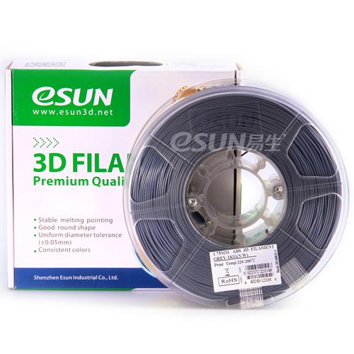 Фото нити для 3D принтера eSUN 3D FILAMENT ABS GREY 1.75 мм
