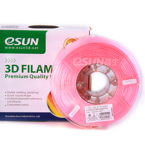 Фото нити для 3D принтера eSUN 3D FILAMENT ABS LUMINOUS RED 1.75 мм