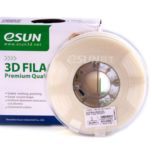 Фото нити для 3D принтера eSUN 3D FILAMENT ABS NATURAL 1.75 мм