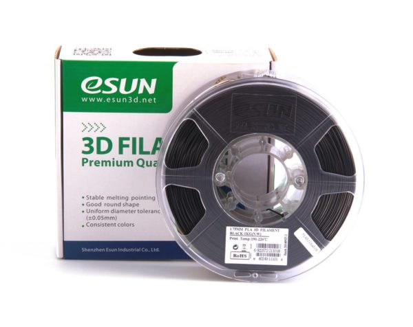 Фото нити для 3D принтера eSUN 3D FILAMENT PLA BLACK 1.75 мм 1