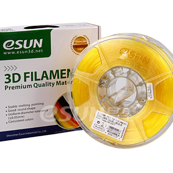 Фото нити для 3D принтера eSUN 3D FILAMENT PLA Glass Lemon Yellow 1.75 мм 1